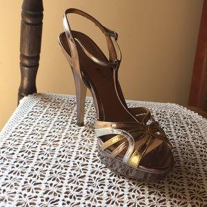 Madden Girl heels in metallic tones. Size 9.5.